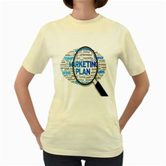 Article Market Plan Women s Yellow T Shirt