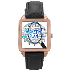Article Market Plan Rose Gold Leather Watch  by AnjaniArt