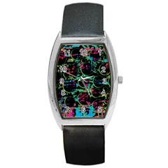 Graffiti Style Design Barrel Style Metal Watch by Valentinaart