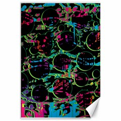 Graffiti Style Design Canvas 12  X 18   by Valentinaart