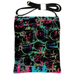 Graffiti Style Design Shoulder Sling Bags by Valentinaart