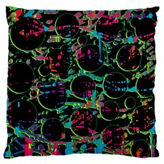 Graffiti Style Design Large Flano Cushion Case (two Sides) by Valentinaart