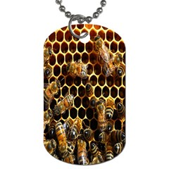Bees On A Comb Dog Tag (two Sides) by AnjaniArt
