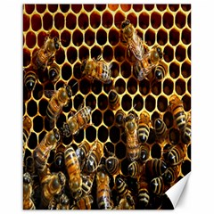Bees On A Comb Canvas 16  X 20