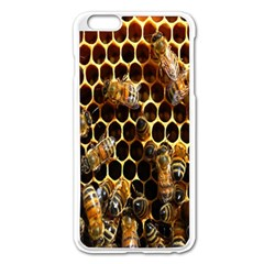 Bees On A Comb Apple Iphone 6 Plus/6s Plus Enamel White Case by AnjaniArt