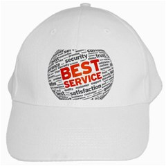 Best Service White Cap by AnjaniArt