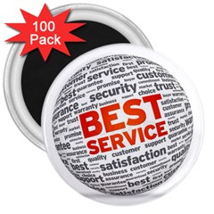 Best Service 3  Magnets (100 Pack)
