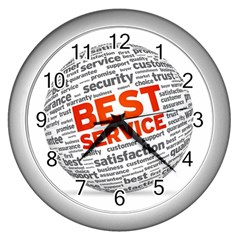 Best Service Wall Clocks (silver)  by AnjaniArt