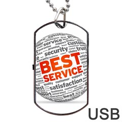 Best Service Dog Tag Usb Flash (two Sides)