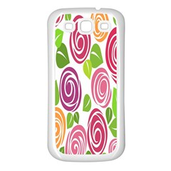Blue Rose Samsung Galaxy S3 Back Case (white)