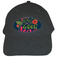 C mon Get Happy With A Bright Floral Themed Print Black Cap