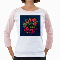 C mon Get Happy With A Bright Floral Themed Print Girly Raglans by AnjaniArt