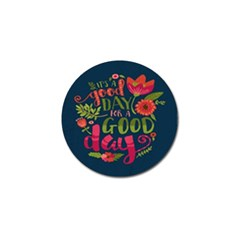 C mon Get Happy With A Bright Floral Themed Print Golf Ball Marker (10 Pack) by AnjaniArt