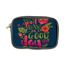 C mon Get Happy With A Bright Floral Themed Print Coin Purse by AnjaniArt