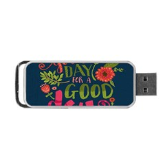 C mon Get Happy With A Bright Floral Themed Print Portable Usb Flash (one Side)