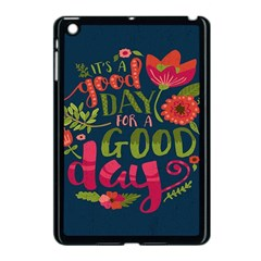 C mon Get Happy With A Bright Floral Themed Print Apple Ipad Mini Case (black) by AnjaniArt