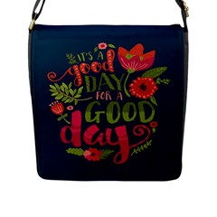 C mon Get Happy With A Bright Floral Themed Print Flap Messenger Bag (l)  by AnjaniArt