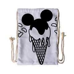 Blackandwhite Mickey Icecream Drawstring Bag (small)