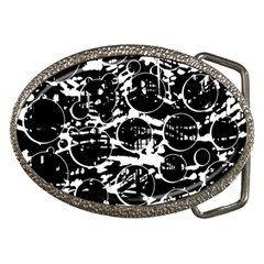 Black And White Confusion Belt Buckles by Valentinaart