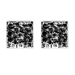 Black And White Confusion Cufflinks (square) by Valentinaart