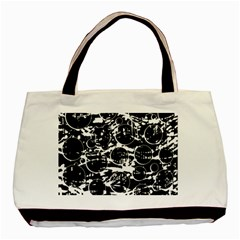 Black And White Confusion Basic Tote Bag by Valentinaart