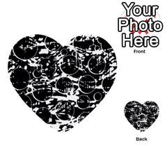 Black And White Confusion Multi Purpose Cards (heart)  by Valentinaart