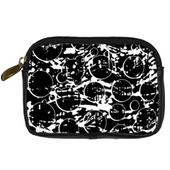 Black And White Confusion Digital Camera Cases by Valentinaart