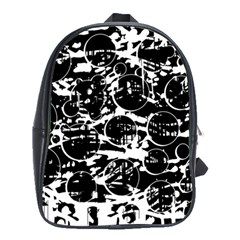 Black And White Confusion School Bags(large)  by Valentinaart