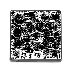 Black And White Confusion Memory Card Reader (square) by Valentinaart