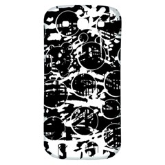 Black And White Confusion Samsung Galaxy S3 S Iii Classic Hardshell Back Case by Valentinaart