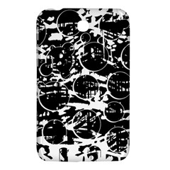 Black And White Confusion Samsung Galaxy Tab 3 (7 ) P3200 Hardshell Case  by Valentinaart
