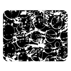 Black And White Confusion Double Sided Flano Blanket (large)  by Valentinaart