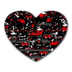 Red Symphony Heart Mousepads by Valentinaart