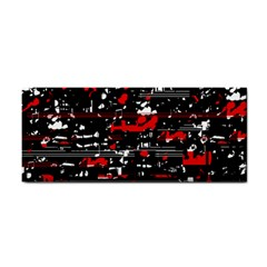 Red Symphony Hand Towel by Valentinaart