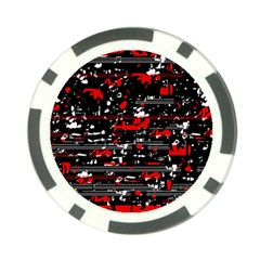 Red Symphony Poker Chip Card Guards (10 Pack)  by Valentinaart