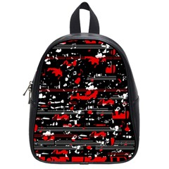 Red Symphony School Bags (small)  by Valentinaart