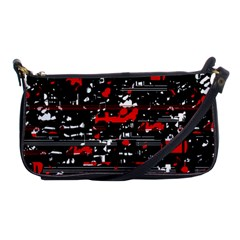 Red Symphony Shoulder Clutch Bags by Valentinaart