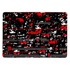 Red Symphony Samsung Galaxy Tab 10 1  P7500 Flip Case by Valentinaart