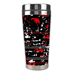 Red Symphony Stainless Steel Travel Tumblers by Valentinaart
