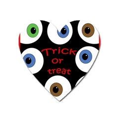 Trick Or Treat  Heart Magnet by Valentinaart