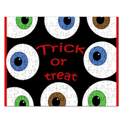 Trick Or Treat  Rectangular Jigsaw Puzzl by Valentinaart