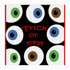 Trick Or Treat  Medium Glasses Cloth (2 Side) by Valentinaart