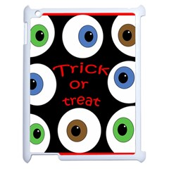 Trick Or Treat  Apple Ipad 2 Case (white) by Valentinaart