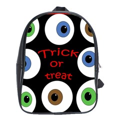 Trick Or Treat  School Bags (xl)  by Valentinaart