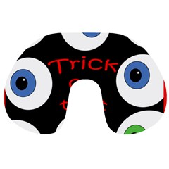 Trick Or Treat  Travel Neck Pillows by Valentinaart