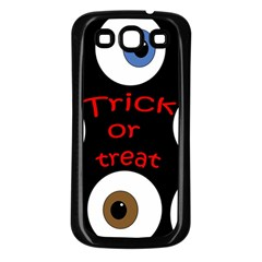 Trick Or Treat  Samsung Galaxy S3 Back Case (black) by Valentinaart