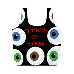 Trick Or Treat  Full Print Recycle Bags (m)  by Valentinaart