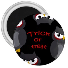 Trick Or Treat   Owls 3  Magnets by Valentinaart