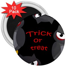 Trick Or Treat   Owls 3  Magnets (10 Pack)  by Valentinaart
