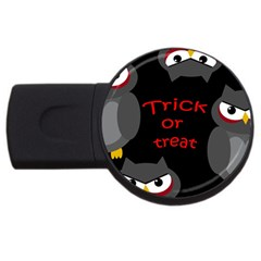 Trick Or Treat   Owls Usb Flash Drive Round (2 Gb)  by Valentinaart